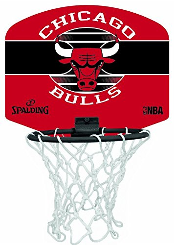 Spalding Basketball Mini Chicago Bull Badminton Board, Mehrfarbig, One Size