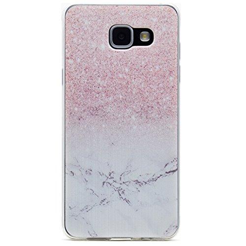 Funluna Cover Galaxy A5 2016 Marmo, Ultra Sottile Silicone Gel Morbido Cover Antiurto [Crystal TPU] con Disegni Marmo Custodia Protettiva per Samsung Galaxy A5 2016