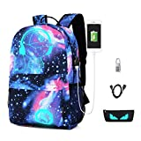 Cool Boys Girls Outdoor Backpack Music Boy Backpack Anime Luminous Children's School Bag