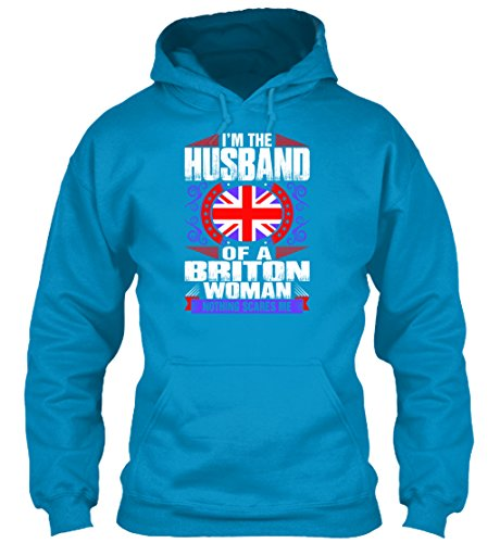 teespring Men's Novelty Slogan Hoodie - Im Briton Woman Husband T-Shirts