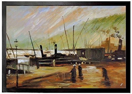 Vincent Van Gogh - El De Ruijterkade En Amsterdam, 1885 Felpudo Alfomb