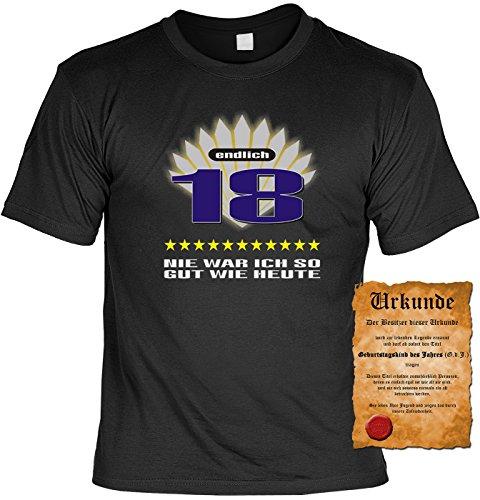 Geschenk zum 18. Geburtstag Sprüche Motiv Fun T-Shirt Geschenkidee Männer auch in Übergrößen 3XL 4XL 5XL Weihnachtsgeschenk schwarz-02