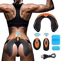 AILIDA Hips Trainer Electrostimulateurs fessier, Intelligent Portable Massage pour Aider à Façonner Le Muscle et à Sculpter Les Courbes et Raffermir Les Fesses Femme Homme