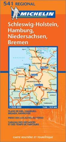 Carte routière : Schleswig-Holstein, Hamburg, Niedersachsen, Bremen, N° 11541 (en allemand)
