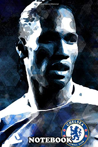 "Notebook: Didier Drogba , Journal for Writing, College Ruled Size 6"" x 9"", 110 Pages"