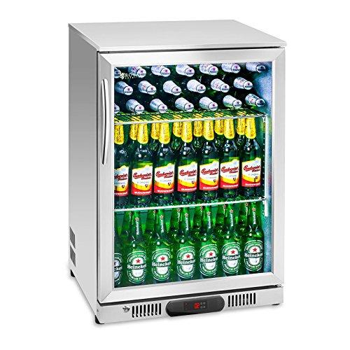 Royal Catering RCGK-138S Nevera Expositora Frigorifico Minibar Nevera Pequeña Bebidas Botellas Refrigerador...