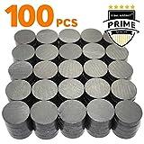 X-bet MAGNET TM Magneti ferrite - Calamita Rotonda da 18 mm - Magnete per Frigo, Frigorifero, Lavagna, Hobby, Artigianato - Magneti Piccoli Calamite Potente Piatti - 100 pezzi