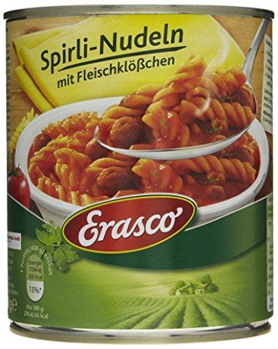 Erasco Spirli-Nudeln mit Fleischklößchen, 3er Pack (3 x 800 g Dose)