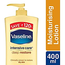 Vaseline Intensive Care Deep Restore Body Lotion, 400ml (Save Rupees 120)