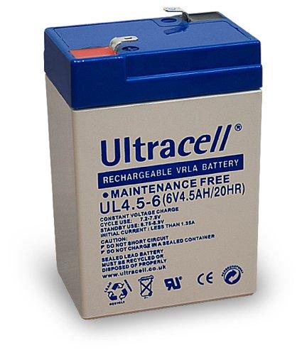 BATTERIA Al PIOMBO ULTRACELL 6V 4.5ah RICARICABILE