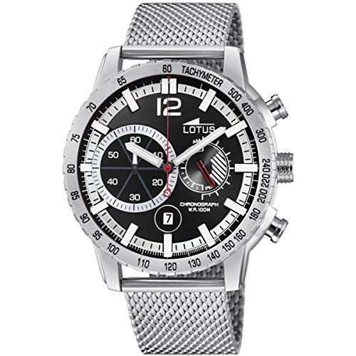 76c916836dd6 Lotus Reloj Cronógrafo para Hombre de Cuarzo con Correa en Acero Inoxidable  10137 3