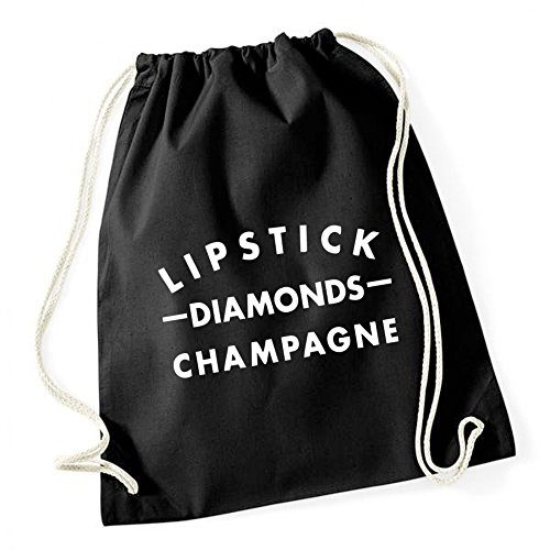 Lipstick Diamonds Gym Black Certified Freak
