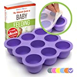 KIDDO FEEDO Baby Food Storage - The Amazon Original Freezer Tray Container with Silicone Clip-On Lid - 6 Colours Available - BPA Free & FDA Approved - Free eBook by Author/Dietician, Lifetime Guarantee