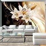 murando - Fototapete 400x280 cm - Vlies Tapete - Moderne Wanddeko - Design Tapete - Wandtapete - Wand Dekoration - Blumen Lilien Abstrakt b-C-0030-a-b