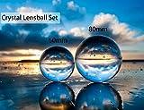 MerryNine Bola de Lente de fotografía con Bolsa, Bola de Cristal K9 con Bolsa de Microfibra, Accesorio Decorativo y para fotografía