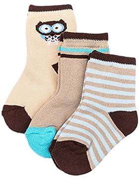Happy Cherry Baby Kleinkind Kinder Jungen 3 Paar Baumwolle Socken Set Süß und Lieblich für Herbst Winter