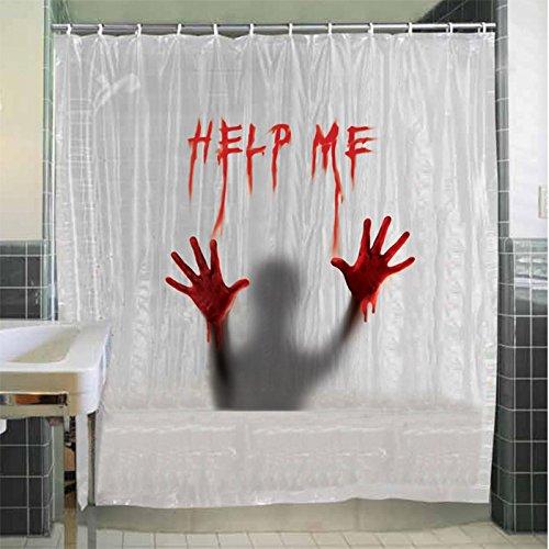 Help Me Horror Duschvorhang als Halloween Dekoration