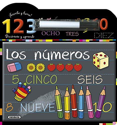 Los números (Escribe, borra y aprende) por Susaeta Ediciones S A