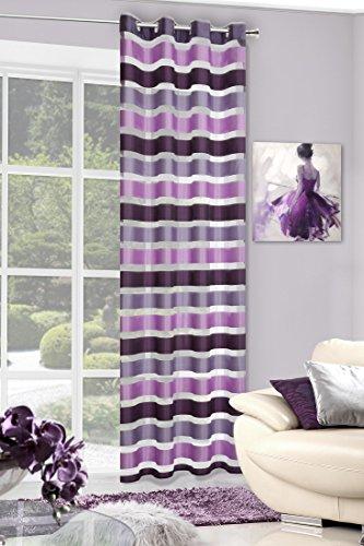 Eurofirany zas/212/212fiol + róż tenda con occhielli, 140x 250cm, violet/rosa