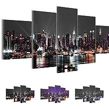 Bilder 200 x 100 cm - New York Bild - Vlies Leinwand - Kunstdrucke -Wandbild - XXL Format - mehrere Farben und Größen im Shop - Fertig Aufgespannt !!! 100% MADE IN GERMANY !!! - 601951a