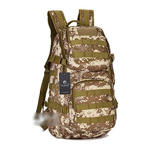 YAAGLE 35 L Rucksack outdoor Sporttasche Gepäck Bergsteigen Reisetasche Schultertasche Herren militärisch Sporttasche Tarnung 1