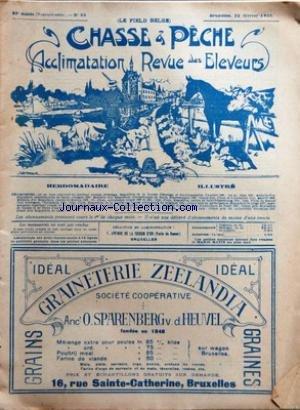 CHASSE ET PECHE [No 39] du 22/02/1920 - CHASSE ET TIR - PERMIS DE PORT D'ARMES - TAXES PROVINCIALES - TIRS AUX PIGEONS ARTIFICIELS - EMILE DUPONT