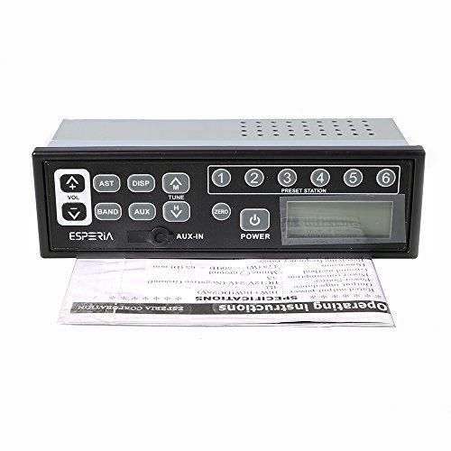 Malayas Autoradio FM AM Radio Multi Funktion Stereo AM/FM Radio in Batterieleistung mit MP3 Player, AUX/USB Eingang, 12V/24V, LCD-Display für große Fahrzeuge Bagger, Traktoren, LKW, Kart, Yacht, Ladegerät, Grundschiene