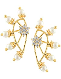 Archi Collection Jewellery White Ear cuffs Earrings for Girls and Women Price in India