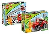 Lego Duplo Ville 5682 Feuerwehrwagen und 6169 Feuerwehr-Hauptmann