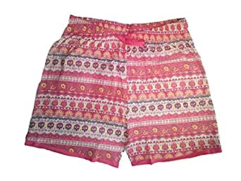 Zeki Women's Printed Cotton Shorts (Colour Pink)