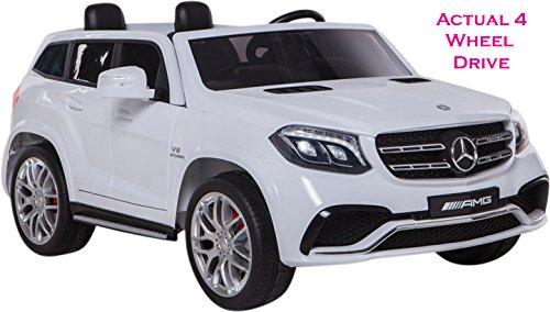 Mercedes 2-Sitzer Lizenzprodukt GLS 63AMG SUV die tatsächliche 4WD mit 4x Unabhängige leistungsstarken Motoren Jeep Elektrische Akku Ride On Car weiß