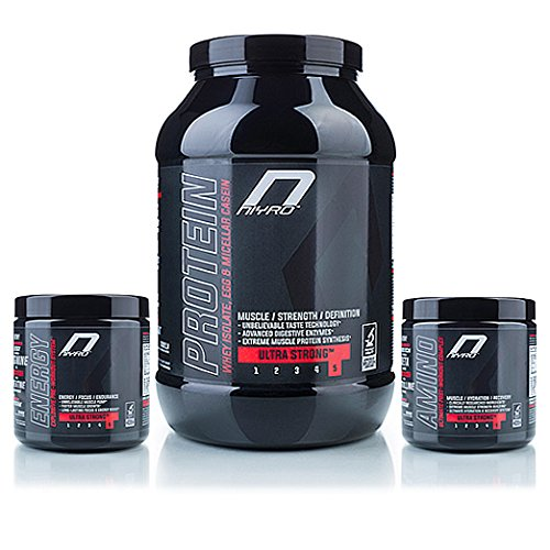 Niyro - Protein, Energy & Amino - Muscle Definition System Stack - Ultra Strong Supplement