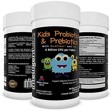 ★ 6 Milliarden KBE/CFU Probiotikum mit Präbiotika für Kinder ★