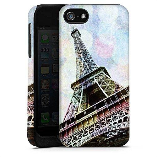 Apple iPhone X Silikon Hülle Case Schutzhülle Eiffelturm Paris Frankfreich Tough Case matt