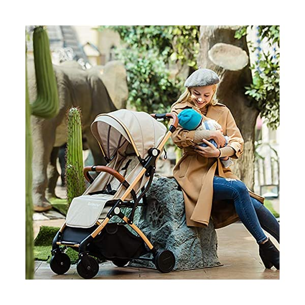 SONARIN Lightweight Stroller,Compact Travel Buggy,One Hand Foldable,Five-Point Harness,Great for Airplane(Grey) SONARIN Size:Suitable from birth up to 25kg, length:66CM, width:48cm, height:98cm.Folding up:60CM*48CM*26CM. Great for Airplane,can be placed in any car boot. Safe:With sturdy aluminum alloy, compact body and five-point seat harness,each stroller has been pressure tested to provide security for each baby. Quality and Design:The backrest of the stroller supports sitting, half lying, lying,all three angles,lengthened and widened sleeping basket. Four wheel independent shock absorbing and built-in bearings make it smoother and quieter. 2