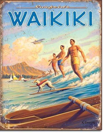 Hawaii Surfside Blechschild Usa Groß NEU 40x31cm VS4259 Hawaii-original-kunst