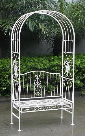 Arche de jardin avec banc 2 places - style vintage