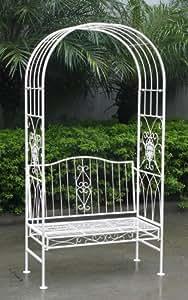 Portale ad arco da giardino in ferro battuto shabby chic e for Panchina ferro battuto amazon