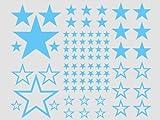 wandfabrik 82_Sterne_56_1 wandfabrik-Wandtattoo-82 praktische, Babyblau