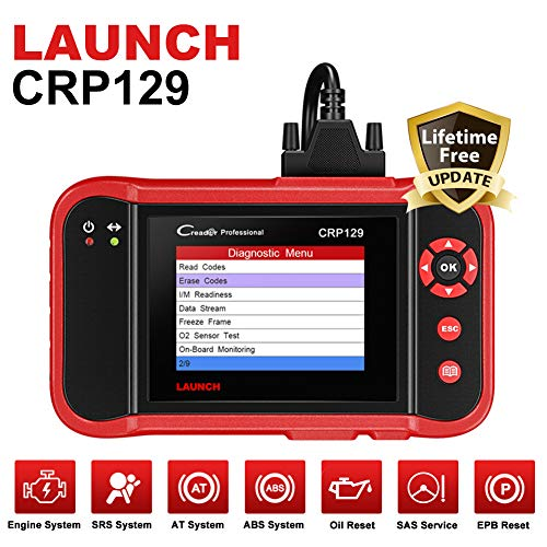 Launch OBD2 EOBD-Scanner-Diagnosecodeleser-Motor, Getriebe, SRS, ABS, EPB SAS Öl-Service-Licht Reset Scan-Werkzeug, CRP129