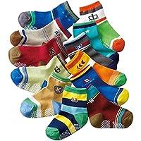 JT-Amigo Calcetines Antideslizantes para Bebés (Pack de 12 Pares)