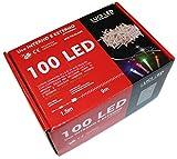 100LED Lichterkette für innen- und Außenbereich–Controller mit 8Spiele von Licht für Dekoration von innen außen und Bäume von Weihnachten–Länge 9Meter