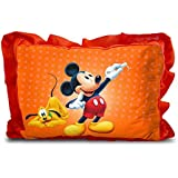 Sleep Nature's Baby Pillow For Kids|Soft Baby Pillow|Rectangle Shape|Soft Toys|Cartoon Printed|Red Colour Pillow|Pillow Size 14x20 Inches|76
