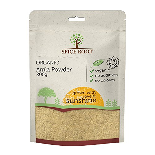 Organico Amla en Polvo 200g (Bio Amla Powder, Indian Gooseberry) - Calidad Premium, Certificado Orgánico | Ayurveda | Vegano | Excelente Fuente de Vitamina C Natural