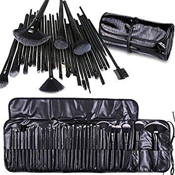 Pennelli Make Up,Cadrim Set di pennelli professionali per trucco trucchi,pennelli trucco con borsa (32 Nero)