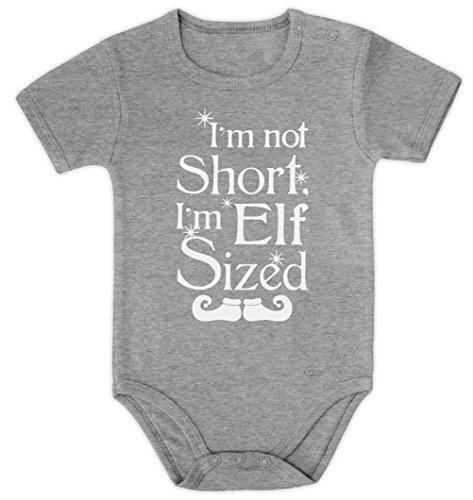 I'm not short I'm elf sized Baby Body Kurzarm-Body 18M Grau