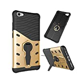 CELZO Sniper with Kick Stand Back Cover Case for Vivo Y66 - (Gold)