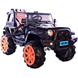 Toy House Trooper Off Roader Jeep Rechargeable Battery Operated Ride-On With Remote For Kids, Black
