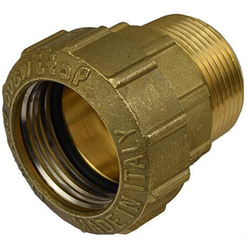 Agora-Tec Messing Fitting Kupplung 40 mm x 1 1/4 Zoll AG (41,9 mm) für PE-Rohr 40 mm