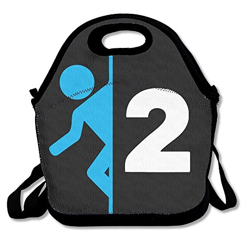 ASFFEE Portal 2 Funny Lunch Tote Lunch Bag